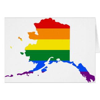 Alaska LGBT Flag Map Card