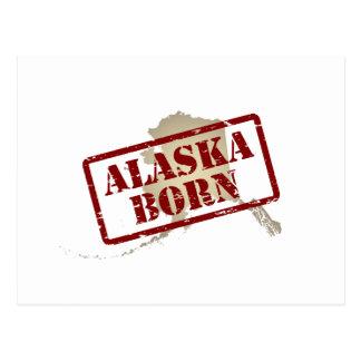 Alaska llevada - sello en mapa postal