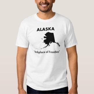 Alaska - lugar de nacimiento de la congelación playeras