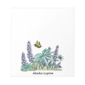 Alaska Lupine Watercolor 40 Pg. Notepad