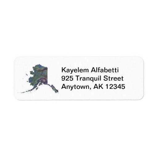 Alaska Map Address Label
