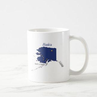 Alaska Map and Flag Classic White Coffee Mug