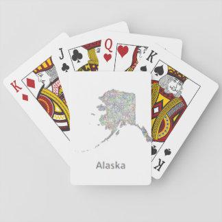 Alaska map card deck