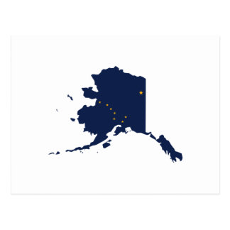 ALASKA MAP POSTCARD