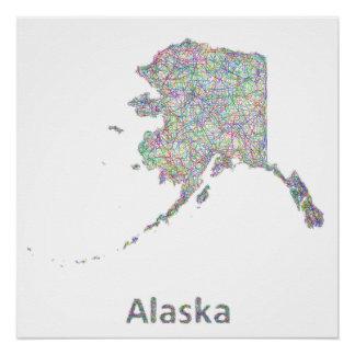 Alaska map poster