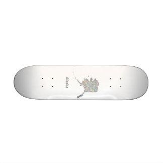 Alaska map skateboard decks