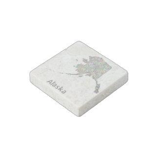 Alaska map stone magnet