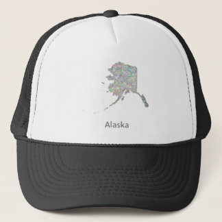 Alaska map trucker hat