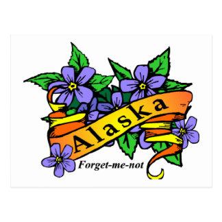 Alaska me olvida no tarjeta postal