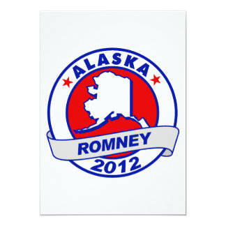 Alaska Mitt Romney 5x7 Paper Invitation Card