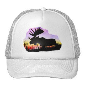Alaska Moose Sillouette Trucker Hat