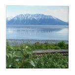 Alaska Mountain along Turnagain Arm Ceramic Tile