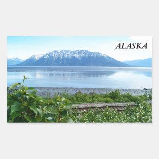 Alaska Mountain along Turnagain Arm Rectangular Sticker