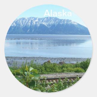 Alaska Mountain along Turnagain Arm Classic Round Sticker