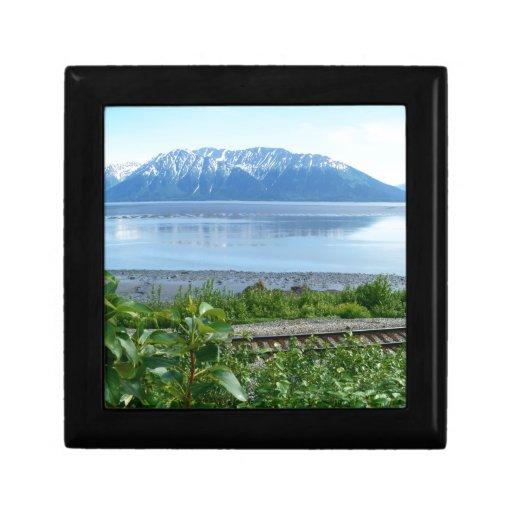 Alaska Mountain along Turnagain Arm Trinket Box
