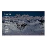 Alaska Mountain Range - Aerial View Business Card Templates