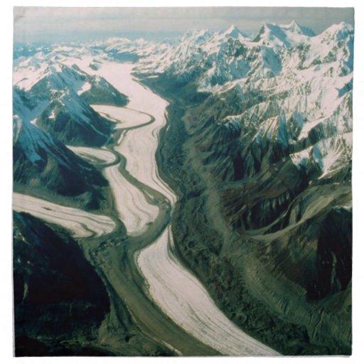 Alaska Mountain Range-Aerial View Napkin