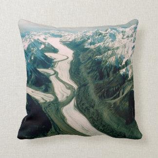 Alaska Mountain Range-Aerial View Throw Pillow
