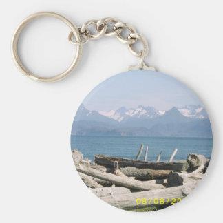 Alaska Mountain Scenery Keychain