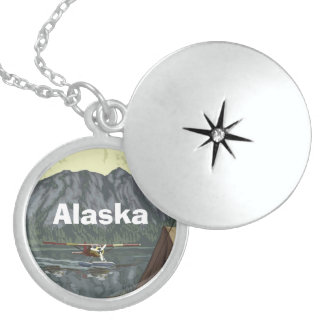 Alaska Mountain Sterling Silver Necklace