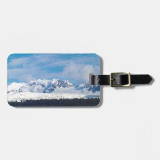 Alaska mountains bag tag