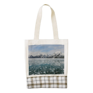 Alaska mountains landscape zazzle HEART tote bag