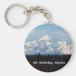 Alaska, Mt Mckinley, Denali, Talkeetna, Llavero Redondo Tipo Pin