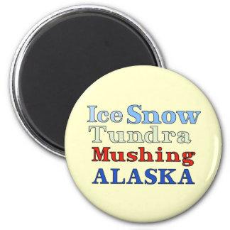 Alaska Mushing Magnet