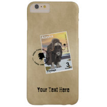 Alaska Muskox Postage Stamp Souvenir Barely There iPhone 6 Plus Case