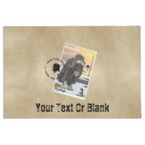 Alaska Muskox Postage Stamp Souvenir Doormat