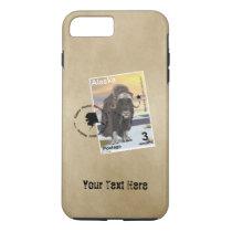 Alaska Muskox Postage Stamp Souvenir iPhone 8 Plus/7 Plus Case