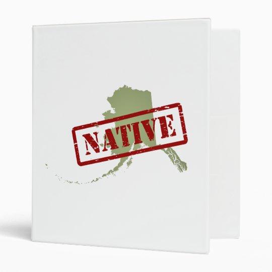 Alaska Native with Alaska Map Binder