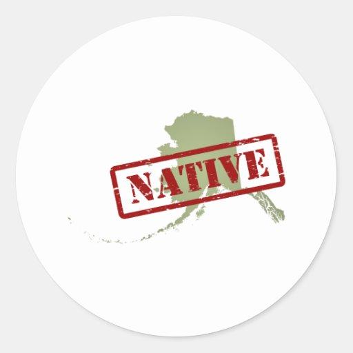 Alaska Native with Alaska Map Classic Round Sticker