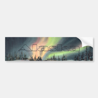 ALASKA NORTHERN LIGHTS by SHARON SHARPE Car Bumper Sticker