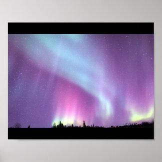 Alaska Northern Lights Sky Night Beautiful Poster