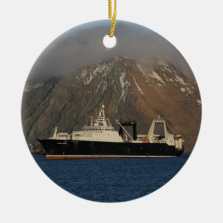 Alaska Ocean, Factory Trawler in Alaska Ceramic Ornament