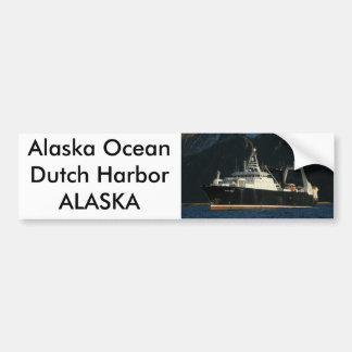Alaska Ocean, Factory Trawler in Dutch Harbor, AK Bumper Sticker
