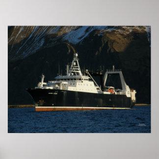 Alaska Ocean, Factory Trawler in Dutch Harbor, AK Poster