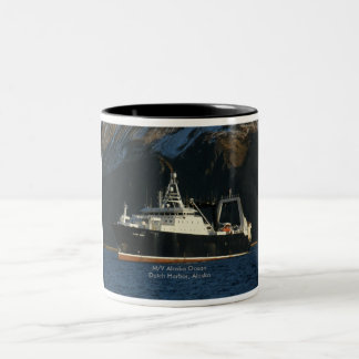 Alaska Ocean, Factory Trawler in Dutch Harbor, AK Two-Tone Coffee Mug