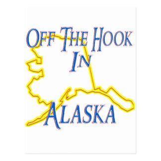 Alaska - Off The Hook Postcard