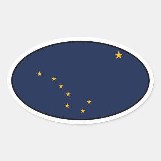 Alaska Oval Flag Sticker
