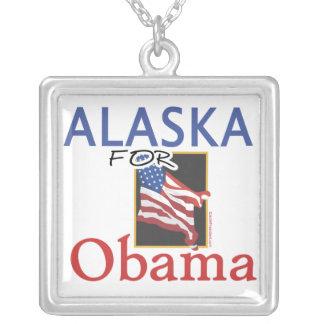 Alaska para la elección de Obama Collar Plateado