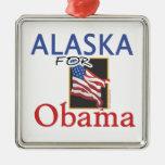 Alaska para la elección de Obama Ornamento Para Reyes Magos