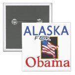 Alaska para la elección de Obama Pins