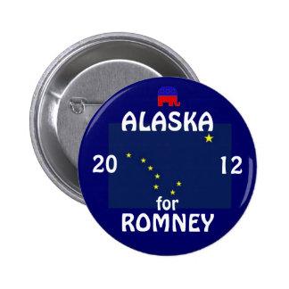 Alaska para Romney 2012 Pin Redondo De 2 Pulgadas