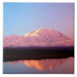 Alaska, parque nacional de Denali, el monte McKinl Azulejos Ceramicos
