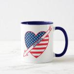 Alaska Patriot Flag Heart Mug