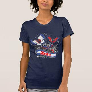 Alaska Patriotism Butterfly Tee Shirt