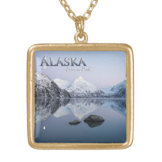 Alaska Peace on Earth Gold Plated Necklace