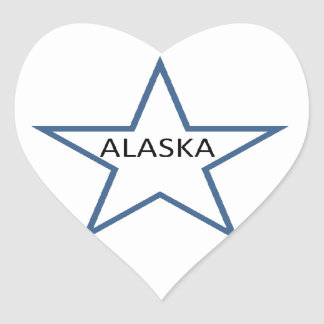 Alaska Pegatina En Forma De Corazón